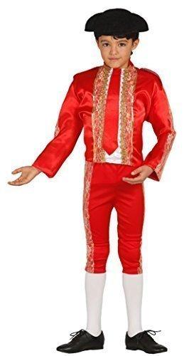 Jungen Roten Spanisch Bulle Kämpfer Matador Aus Aller Welt Kostüm Kleid Outfit 3-12 jahre - Rot, 10-12 (Kostüm Matador Jacke)