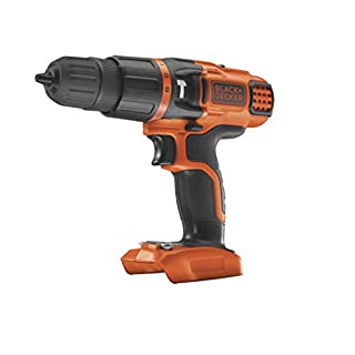 BLACK+DECKER 18V Cordless Hammer Drill - Bare Unit (Battery not Included)