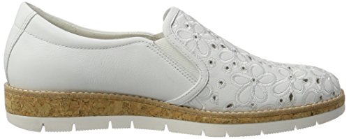 Gabor Ladies Comfort Brogue Shoes White (bianco (sughero) 50)