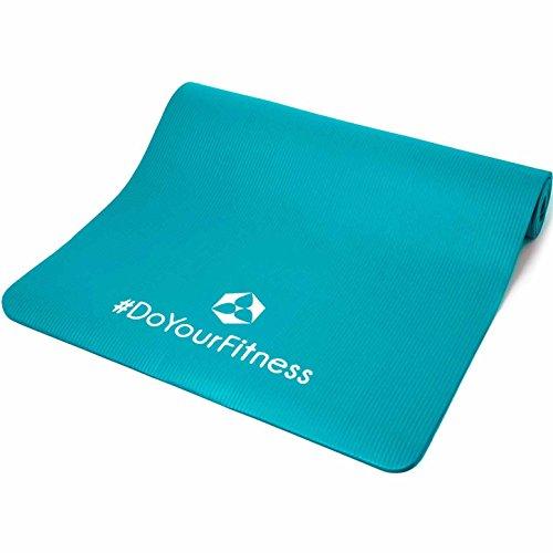 XXL Fitnessmatte »Ashanti« / dick und weich, ideal für Pilates, Gymnastik und Yoga, Maße: 190 x 100 x 1,0cm, türkis