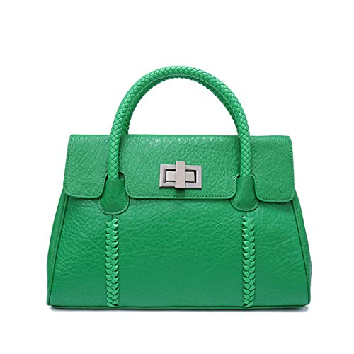 MAGAI Frauen gewebt Ledertasche Casual Schulter Diagonal Cross-Body Fashion Leder Handtasche (Color...