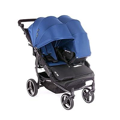 NUEVA Silla Gemelar Easy Twin 3.0.S con capota reversible de paseo Baby Monsters - Color Midnight + REGALO de dos mantas para silleta (Capota reversible + 2 colchonetas)