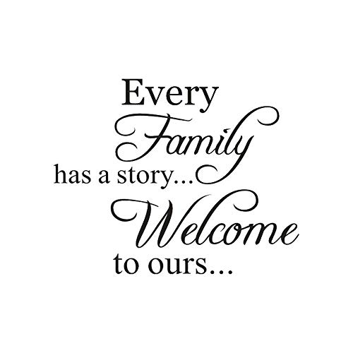 Pegatinas de Pared,Every Family Has A Story Welcome To Ours Vinilo removible de Vinilo Decorativo para Pared Decoraciones de Pared para el hogar por Lunule