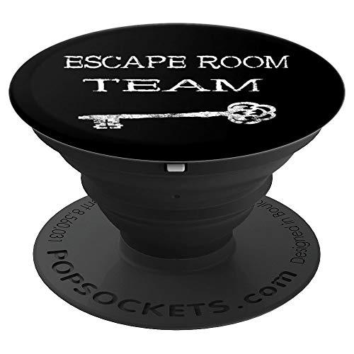 Escape Room Team Exit Rooms Rätsel Crew Gruppen Spieler - PopSockets Ausziehbarer Sockel und Griff für Smartphones und Tablets