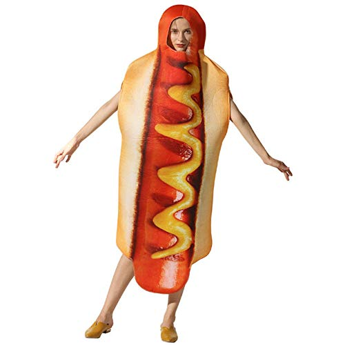 GAOGUAIG AA Erwachsene Pizza Lustige Hot Dog Mais Hamburger Kostüm Party Rolle spielen Outfits Frauen Männer Halloween Cosplay Yummy Fast Food Kostüme SD (Color : Onecolor, Size : Onesize)