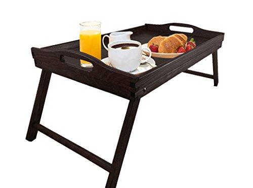 Holztablett dunkel Betttablett Serviertablett Tablett Frühstückstablett Holz