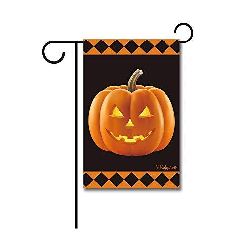 Kafepross Happy Halloween Spuk-Ghost Dekorative Garten Flagge Schwarz Katze Fledermaus Decor Banner Außerhalb Mini Garden flag-12.5x18 inch 18 (Etwas Für Zu Halloween Schwarz)