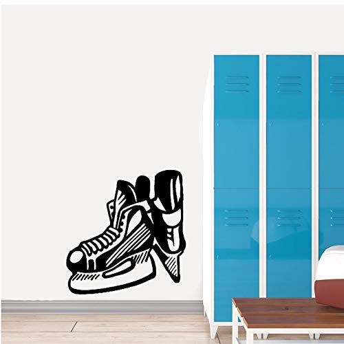 HLZLA Wandaufkleber Schlafzimmer Eishockey Schlittschuh Klinge Extreme Sport PVC 50x52cm