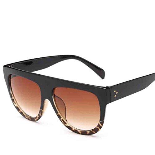 ?Amlaiworld Unisex sommer Groß bunt Gläser sonnenbrillen herren damen Polarisierte Sunglasses reflektierenden UV400 Linse Mode outdoor strand brillen (E)