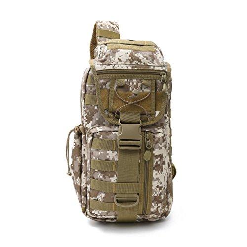 40L Wanderrucksack mit Molle Tasche / Military Bag / Military Rucksack / Rucksack Soldat / Camping Tactical Rucksack (Camouflage / Schwarz / ACU / Khaki) A