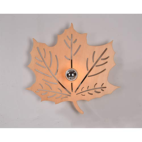 CX AMZ Moderne Hauptwandleuchten, kreative Hand Geschnitzte Schattenwandlampe, Baum-Blatt-Form-Dekorationsgang-Wandleuchte, Moderne kreative stilvolle hölzernes Kunst-Silhouette-Licht - Hand Geschnitzten Blättern
