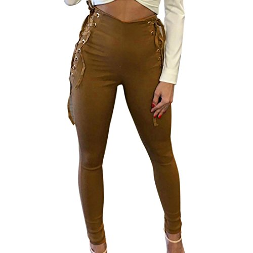 Leggins cintura alta,Morwind leggings moldeadores imitación denim vendaje pantalones mujer pantalones de deporte mujer leggings de deporte leggins de mujer deportivo (Cintura: 78-92cm, Cauqi)