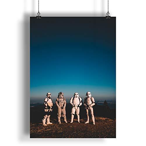 INNOGLEN Vordere kostümierte Personen auf dem Berg A0 A1 A2 A3 A4 Satin Foto Plakat a2822h