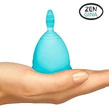 OFFERTA SPECIALE di OGGI - COPPETTA MESTRUALE - Zen Gina - 100% Silicone Grado Medico (100% Cotone Tamponi)