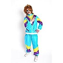 Foxxeo 10802 | Foxxeo 80er Jahre Kostüm Trainingsanzug Assianzug Assi