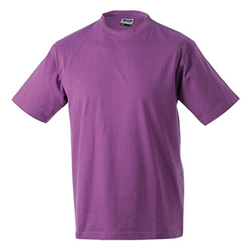 JAMES & NICHOLSON Kinder Komfort-T-Shirt aus hochwertigem Single-Jersey Purple