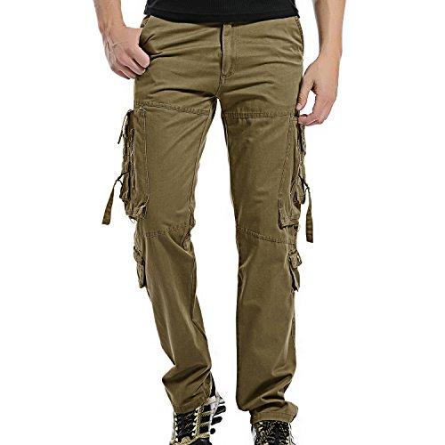 AYG Mens Cargo Pants Militär Hose(Khaki,40)