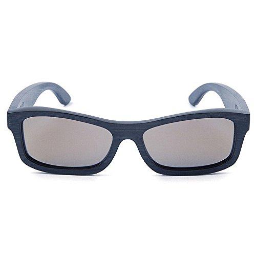 Xiuxiushop UV400 Bambus Sonnenbrillen, Unisex Retro Holzoptik Gläser, Classic Wood Shades Damen Herren