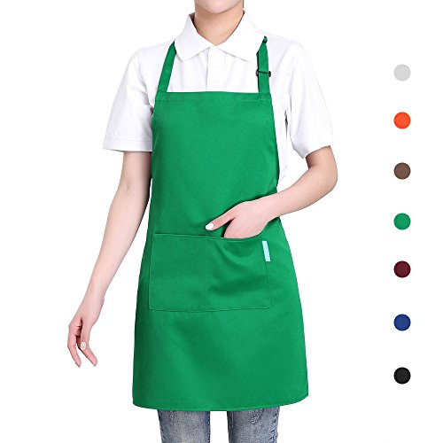 esonmus Schürze Kochschürze Küchenschürze Gärtnerschürze Latzschürze Verstellbarem Nackenband - Einfache Schule Mädchen Kostüm