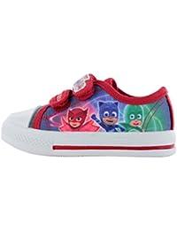 a6a4e881f8  PJ Masks Boys Summer Canvas Pump Trainer Character Childrens Shoes 5-12  UK.