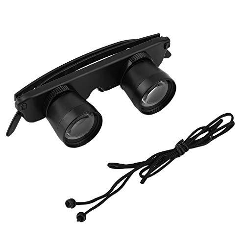 Beste 3X28 Doppel Brillen Stil Outdoor Angeln Fernglas Optik Gläser Angeln Fernglas Lupe Messwerkzeug - Schwarz