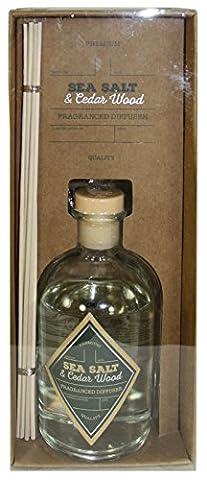 Vintage Chemist Bottle Style Fragrant Diffuser - Sea Salt and Cedarwood