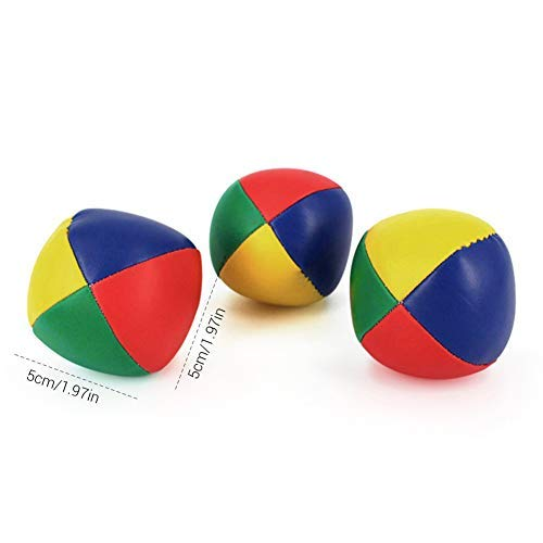 EisEyen 3 Jonglier Bälle Weiche Jonglierbälle rot/gelb/blau 3er Set Jongleur Lernen Für Artisten und Zirkus