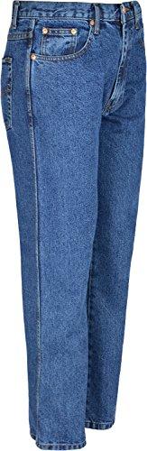Aztec Herren Jeans, Hose, Innenbeinlänge: 79 cm großen Größen 60 bis Taille 30 Blau - Blau