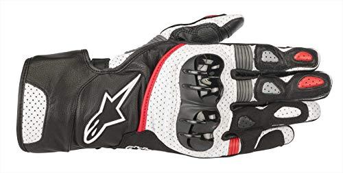 Alpinestars Motorradhandschuhe Sp-2 V2 Gloves Black White Red, Schwarz/Weiss/Rot, M
