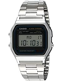 Casio Vintage Series Digital Grey Small Rectangle Dial Unisex Watch - A-158WA-1Q