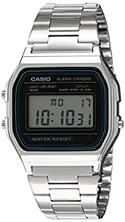 Casio Men's Digital Watch with Stainless Steel Bracelet A158WEA-1EF (B000GAYQJ0) | Amazon price tracker / tracking, Amazon price history charts, Amazon price watches, Amazon price drop alerts