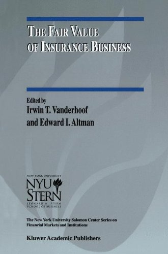 The Fair Value of Insurance Business (The New York University Salomon Center Series on Financial Markets and Institutions)