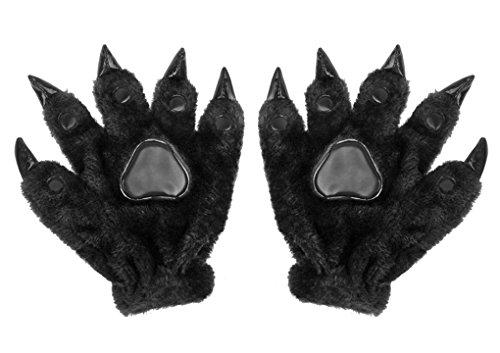 Frauen Niedliche Kostüm - RUIXIB Cosplay Tier Pfoten Tiertatzen Handschuhe, Cartoons Warm Plüsch Dinosaurier Handschuhe Gloves Mode Niedlich Halloween Party Kostüm Zubehör Geschenk für Frauen Männer