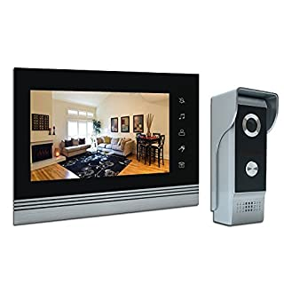 'amocam 7 Video Intercom Systems, Aluminum Alloy/acrylic Panel Doorphone, Wired Video Door Phone Doorbell Kits, Halterung Monitoring, Unlock, dual-way Door Intercom, IR Night Vision Camera