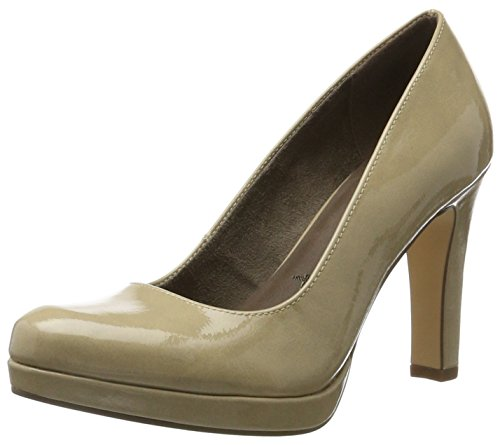 Tamaris Damen 22426 Pumps, Beige (Cream Patent), 38 EU