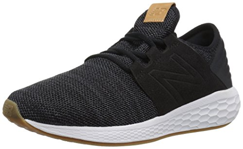 New Balance Damen Fresh Foam Cruz v2 Knit Sneaker, Schwarz/Weiß, 40 EU -