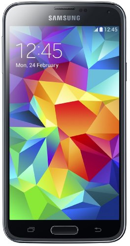 Samsung Galaxy S5 Smartphone (12,95 cm (5,1 Zoll) Touch-Display, 2,5 GHz Quad-Core Prozessor, 2 GB RAM, 16 MP Kamera, Android 4.4 OS) - Schwarz [EU-Version]