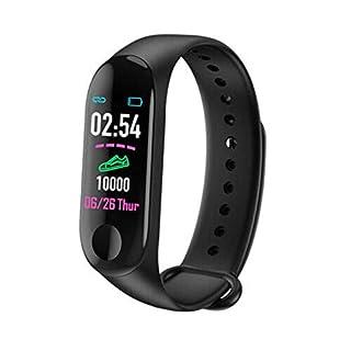 lqw0kk41 M3 Smart Wristband Bracelet Watch Heart Rate Monitor Blood Pressure Tracker