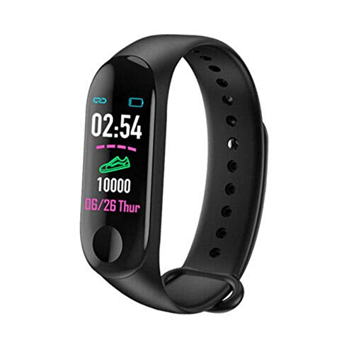 Milnnare Smart Armband Armbanduhr Pulsuhr Blutdruck Messgerät Watch Bracelet - Schwarz