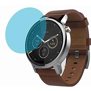 4ProTec I Motorola Moto 360 2 Herrenuhr 46 mm Premium Displayschutzfolie Bildschirmschutzfolie kristallklar (4 Stück) Kratzfest UND PASSGENAU