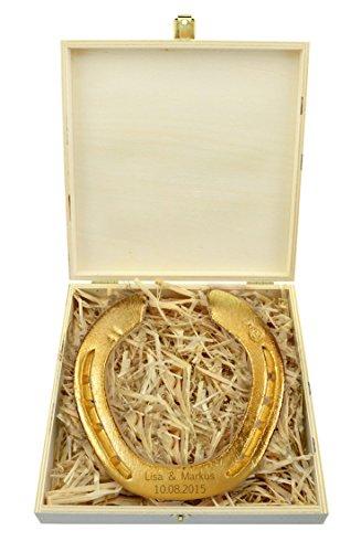 Vergoldetes-Hufeisen-mit-Gravur-Holzbox-original-Hufeisen-vom-Pferd-Glckshufeisen-Hochzeitsgeschenk-Geschenk-zur-Goldenen-Hochzeit