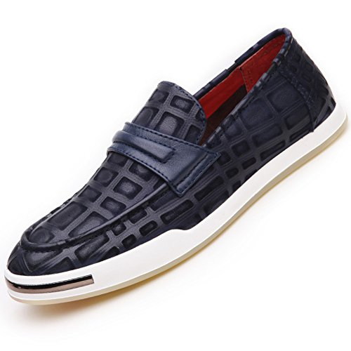 Scarpe Da Uomo Per Il Tempo Libero In Pelle Tendine Dress Autunno Business Wedding Moda Slip On Marrone-nero Blu