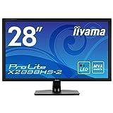 IIYAMA ProLite X2888HS-B2 71cm 28Zoll 1920x1080 LED Backlight VGA DVI HDMI Display Port 5ms 300cd/m Lautsprecher schwarz