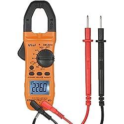 Pince ampèremétrique, KKmoon Poche multimètre numérique AC/DC Tension AC/DC Tension de courant continu Test de continuité Test de résistance à la température Testeur de mesure de diode