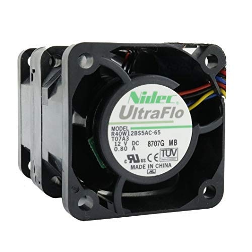 Nidec Fan 40mm 40x40x56 mm R40W12BS5AC-65 12V 0 8A DC Air Fan 4cm 4 Wires