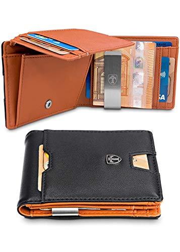 TRAVANDO Geldbeutel Männer mit Geldklammer Brisbane Geldbörse Portmonaise Herren Portemonnaie Wallet Geldtasche Portmonee RFID Schutz Kreditkartenetui Brieftasche Kartenetui Geldclip Etui
