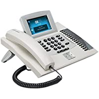 """Auerswald COMfortel 2600 IP Weiss - Teléfono IP (Blanco, Terminal con conexión por Cable, 480 x 272 Pixeles, 10,9 cm (4.3""""), 100 entradas, SD,SDHC)"""