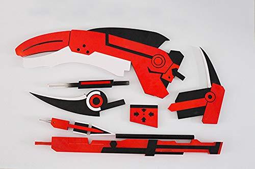 Cosplay Ruby Kostüm Rose - Vokaer RWBY Ruby Crescent Rose Die Hochgeschwindigkeits-Sniper-Sense Transformierte Cosplay-Stütze