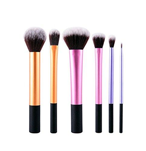 Incendemme 6pcs Pinselset Schminkpinsel Kosmetikpinsel Pinsel Make Up Tool (Kabuki Karneval Kostüm)