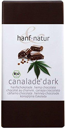 *Canalade BIO dunkle Hanf-Zartbitterschokolade mit geschältem Hanfsamen (Inhalt:10 Tafeln je 100g) DLG-Prämiert*